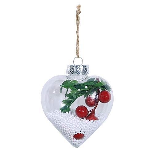 Ahomi kerstboom glitter transparante vorm metaal liefde hangende bal thuis party decoratie