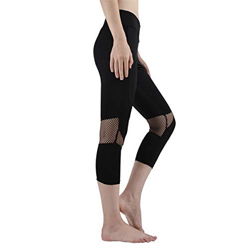 Qiuaii - Pantalones de yoga para mujer, malla de verano