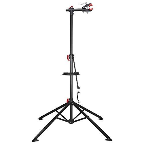 Yaheetech Fahrradmontageständer Reparaturständer mit magnetischer Werkzeugschale Höhenverstellbar Montageständer Reparaturset belastbar bis 40 Kg