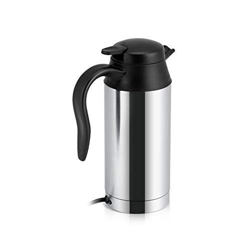 RYTLG Tasse de café d'acier Inoxydable de Pot électrique de Voiture de Bouilloire de véhicule de 12 V 750 ML avec l'allume-Cigare Accessoires automatiques Bouilloire de café