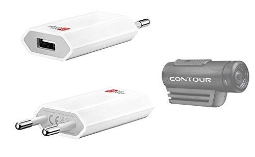 DURAGADGET Adaptador De Pared Europeo para Cámara Deportiva Contour Roam 2 - Entrada USB