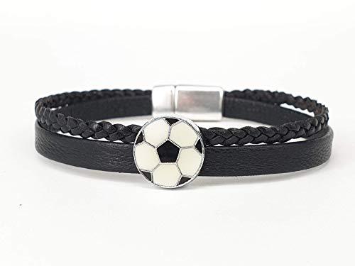 Cooles Fußball-Leder-Armband für Jungs ein tolles Geschenk für alle Fußballfans
