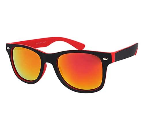 Alsino Gafas de sol retro vintage con protección UV 400, marco de plástico, muchos colores, para hombre y mujer, V-1235 Red,