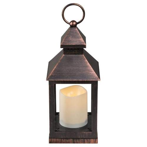 GLOBO LIGHTING tafellamp, kunststof, incl. LED-lampen, koperkleurig, 10,5 x 28 cm, 0,05 W, 4,5 V, koperkleurig
