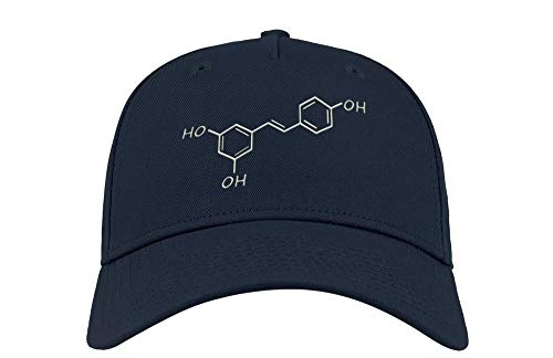 Vino Tinto Resveratrol Fórmula Química Ciencia Bordada Visera Curvada Unisex Transpirable Gorra Gorra Gorra Gorra Gorra Gorra Gorra Gorra Gorra Fullcap Trucker Cómodo Top