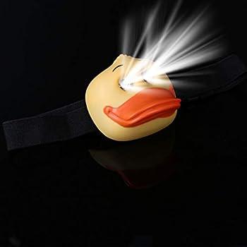 BANGNA Lampe Frontale LED d'extérieur pour Enfant Petite Lampe Frontale Mignonne en Forme de Canard