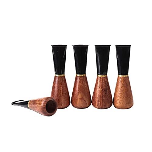 MUXIANG Cigar Mouthpiece Holder TIP 5 Sizes Set for Men and Women Wood Cigar Holder 9mm Paper Filter B Shape BE0152-505G
