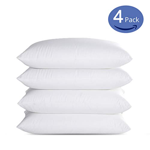 Emolli Queen Bed Pillows for Sleeping 4 Pack, Luxury Hotel Pillows Super Soft Down Microfiber Alternative and 100% Cotton Cover Soft Comfortable
