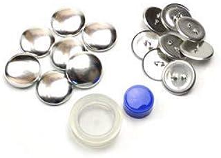 くるみボタンキット 包み つつみ パーツ (打ち具付) 22mm 8組入 (足付きタイプ) 2パッケージセット