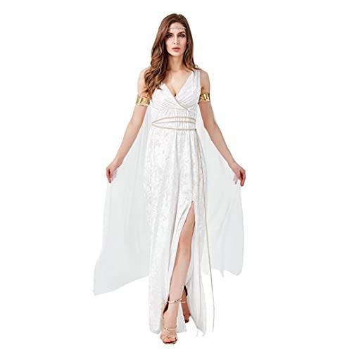 Disfraz de diosa griega antigua Disfraz de diosa griega de Atenea Disfraz de diosa de la mitologa griega romana antigua Vestido largo de reina Disfraces de cosplay sexy para fiesta de Halloween