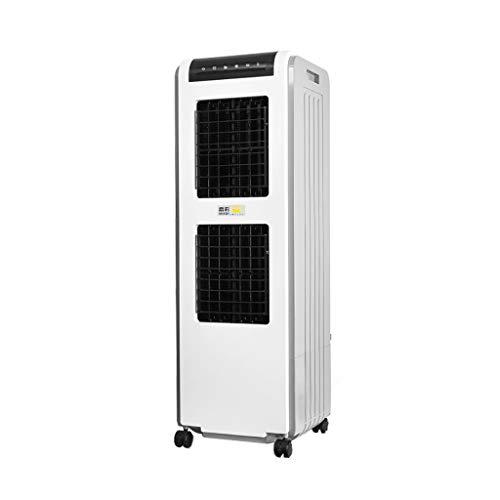 QJF-scales Climatizador Evaporativo Aire Acondicionado con Mando a Distancia Inicio/Industria/Comercio 3 Velocidades Depósito de 24 litros Blanco 100W 34 × 34 × 104cm