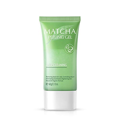 Matcha Peeling Gel,Matcha Exfoliating Gel,Gentle Foaming Facial Scruber,Moisturizing Exfoliation Shrinking Pores Soften Skin - Best Exfoliating Face Wash,Deep Cleansing & Reduces Clogged Pores