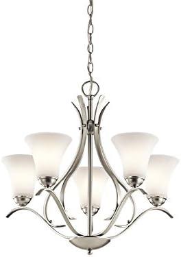 high quality Kichler 43504NI Keiran Chandelier outlet sale 5-Light, outlet sale Brushed Nickel online