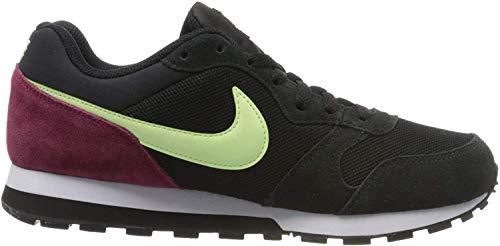 Nike Womens MD Runner 2 Sneaker, Black/Barely Volt-White-Noble Red, 38.5 EU