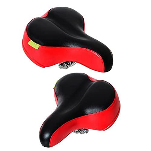 Abaodam Cojín de repuesto para asiento de bicicleta de carretera, bicicleta de montaña, color negro y rojo