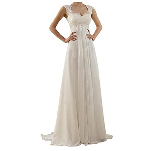 Delgado sin mangas vestido de novia de encaje elegante cuerpo-con arrastran el...