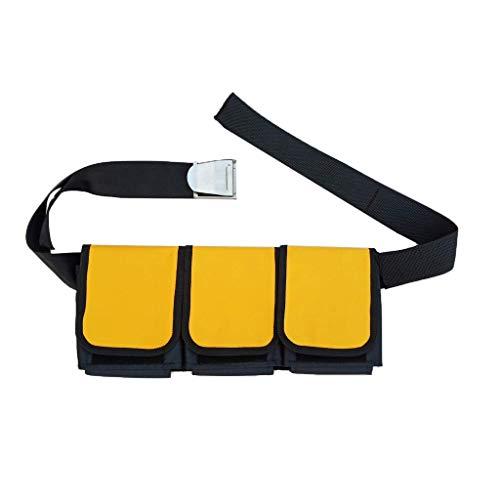 Tubayia Wasserdicht Tauchgürtel Gewicht Gürtel Taschenbleigurt für Tauchen Schnorcheln (5 Tasche)