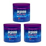 Arginine Infusion 3 Jars Cardio Health 5,000mg L-arginine, 1,000mg L-citrulline,...