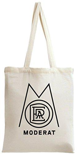 Moderat Logo In White Tote Bag