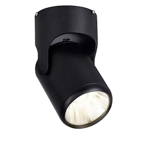 Budbuddy LED 12W plafondspots zwart Spotlight wandlampen opbouwspots led Opbouw plafondlamp vleklamp downlight Plafondverlichting opbouwdownlight Spotverlichting aluminium 4000K