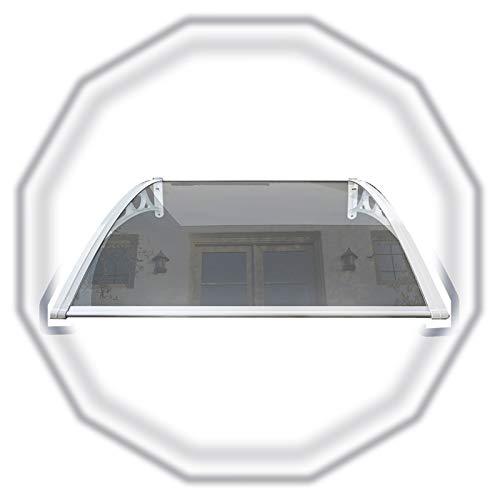 Klar Türdach Überdachung, Beständig Gegen Korrosion Leise Bogen Vordach Türdach Mit Weißer Klammer Für Hintertür, Veranda, Fenster (Color : Clear, Size : 60x200cm)