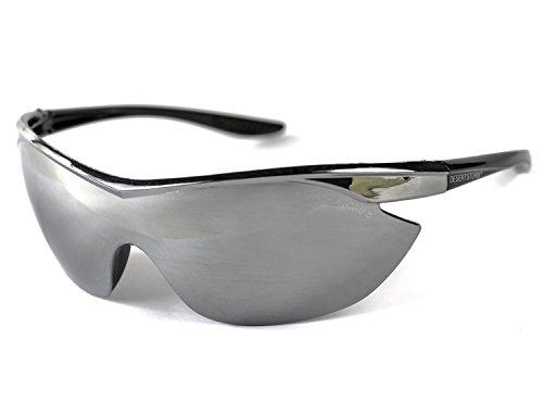 Softair veiligheidsbril Protection Air-Soft Accessoires zilver gespiegeld sportbril gezichtsbescherming