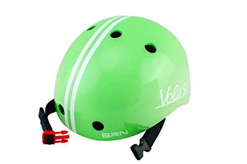 Vola 50 Brn, Casco Bicicleta para Bebe, 170gr (Verde, XXS 44-48cm)