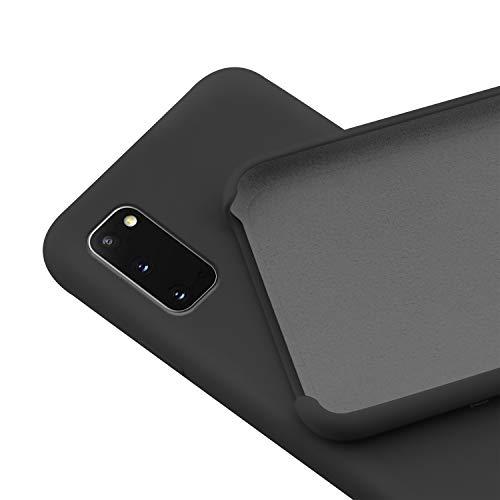 N NEWTOP Custodia Cover Compatibile per Samsung Galaxy S20, Ori Case Guscio TPU Silicone Semi Rigido Colori Microfibra Interna Morbida (Nera)