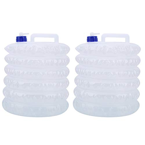 Clasken Recipiente de Almacenamiento de Agua, Recipiente de Agua Plegable, Volumen máximo de 15 l, Peso Ligero para Acampar, Senderismo, Uso de Almacenamiento en campamentos de Pesca