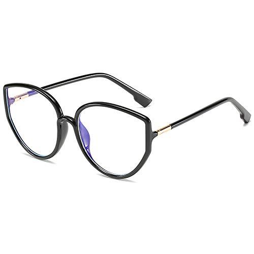 Gafas de Bloqueo de luz Azul Gafas para Juegos de computadora TR Montura de anteojos Trend Big Frame Gafas Lectura Anti-Fatiga Visual para Mujeres y Hombres,C