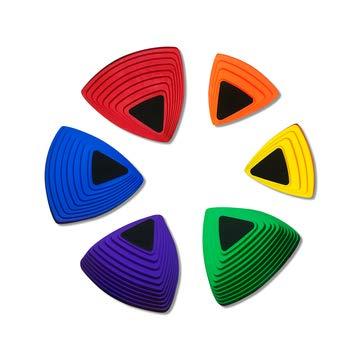 Little Dynamo Balance Stepping Stones for Kids | Enhanced Safety Foot Grips | 6 Hilltop Riverstones | Montessori Gross Motor Skills Toys for Toddlers | Gymnastics Balance Beam Rocks for Kids
