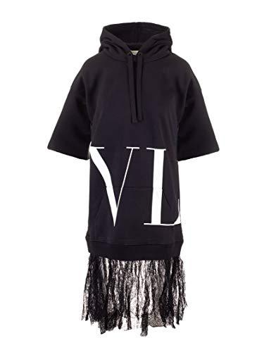 Valentino Luxury Fashion Damen SB3MJ00J4TA0NO Schwarz Kleid | Herbst Winter 19
