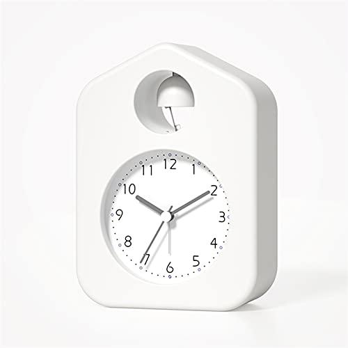 OUMYLFCNEC Despertador Reloj de Alarma pequeño para Estudiantes con Personal Creativo especialidad de la Cama Multifuncional Metal Bell Bell Watch Radios Reloj (Color : E, Size : 14 cm)