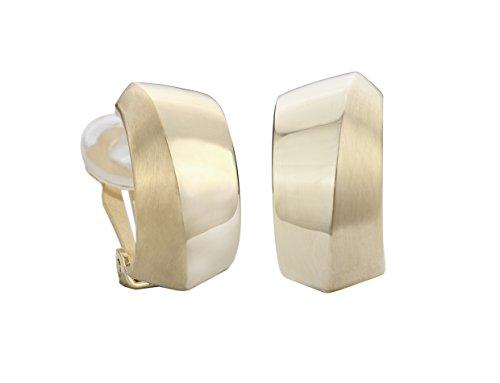 Traveller® Schmuck Ohrring Ohrclip - 22kt vergoldet, bicolor oder rhodiniert - Halbcreolen (gold)