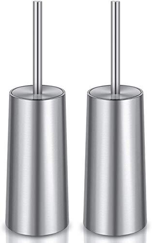 IXO Toilet Brush and Holder, 2 Pack 304 Stainless Steel Toilet Brush with Long Handle, Toilet Bowl Brush for Bathroom Toilet-Ergonomic, Elegant,Durable