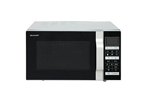Sharp R-860S 3-in-1 Mikrowelle, Grill und Heißluft / 25 L / 900 W / 49 cm/ Programmautomatik /  Gewicht und zeitgesteuertes Auftauen / edelstahl
