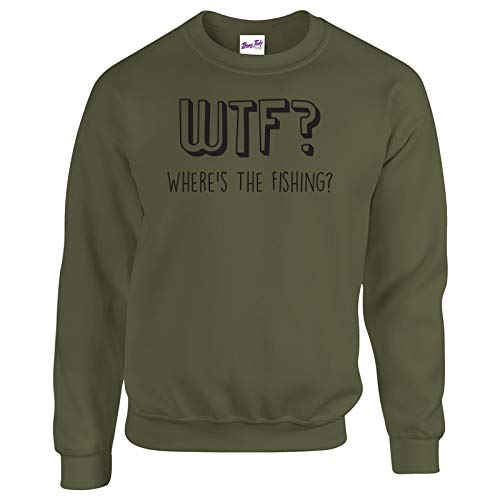 fishing sweatshirts jumpers wtf fishermen