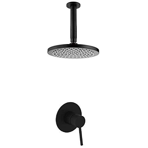 CLJ-LJ Juego de ducha de mano con cabezal de ducha de una sola manija, superior de ducha equilibrada a presión, 8 pulgadas, fácil instalación (tipo de grifo de baño y ducha: grifos de ducha en pared)