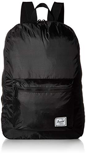 "Herschel Packable Casual Daypack, Black/Black, 17.75"" x 12.5"", 24.5L"