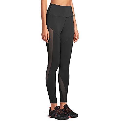 Strong by Zumba - Leggings de entrenamiento de cintura alta con control de barriga para mujer, Negro 2, XS
