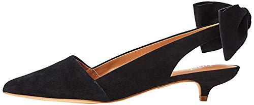find. Suede Kitten Heel Scarpe con Cinturino alla Caviglia, Nero Black), 37 EU