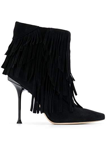 Sergio Rossi Luxury Fashion Femme A84751MCA1041000 Noir Cuir Bottines | Automne-Hiver 19