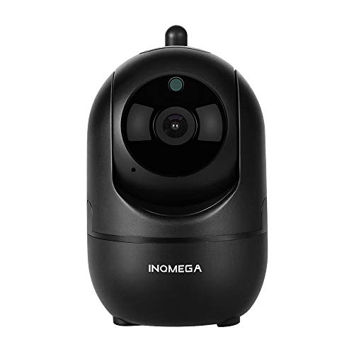 INQMEGA FHD 1080P WiFi Home IP Camera, Indoor Pan/Tilt 2.4Ghz Wireless Security Camera,Nanny cam with Auto Tracking, Cloud Service, Night Vision, Two Way Audio for Baby/Elder/Pet (Black)