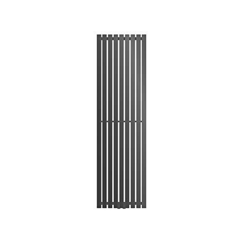ECD Germany Radiatore Termosifone Termparredo Scaldasalviette Stella Verticale Piatto - 480 x 1600 mm - Antracite - Radiatore Scaldasalviette Asciugamani da bagno Verticale Piatto 480x1600 mm