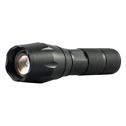 Ubertorch Linterna táctica LED superbrillante con enfoque ajustable, 5 modos de función, resistente al agua