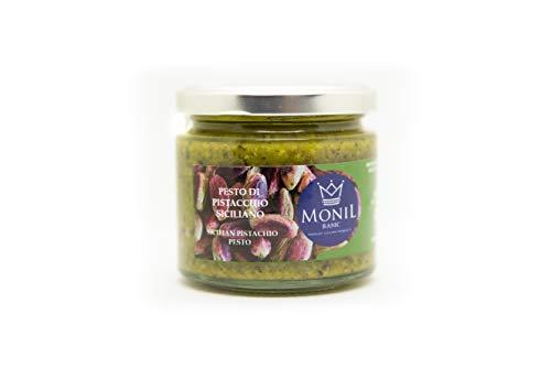 MONIL Premium Sicilian Products Pesto de Pistacho Siciliano n. 2 Botes de 190 Gramos Cada uno