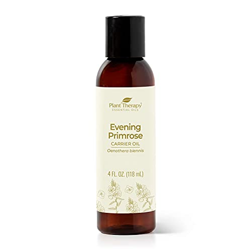 Plant Therapy Evening Primrose Carrier Oil 4 oz Base Oil for Aromatherapy, Essential Oil or Massage use