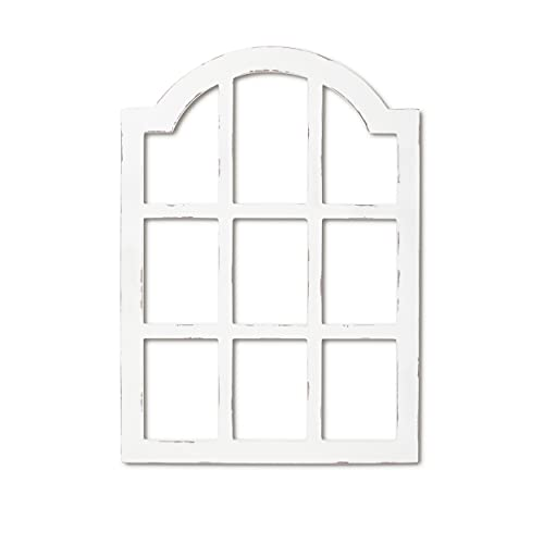 """EMAISON 16"""" x 22.5"""" Gothic Arch Wood Frame Wall Décor, Modern Farmhouse Rustic Window Pane for Home, Living Room, Bedroom, White"""