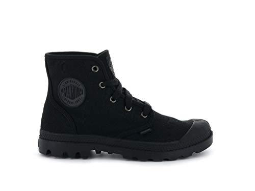 Palladium Women's Pampa Hi Canvas Boots, Black/Black, 7.5