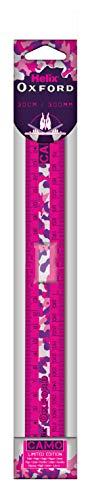 Helix Oxford - Regla plegable (30 cm), diseño de camuflaje, color rosa